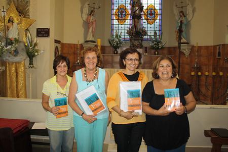 Representantes da comunidade no retiro do Congresso de Leigos: Deolinda, Evaniza, Rinalda e Silvia